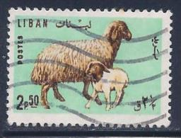 Lebanon, Scott # 442 Used Ewe & Lamb, 1965 - Lebanon