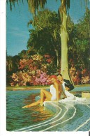 Glamorous Film Stars Esther Williams And Tony Martin Making Love On Map Of Florida Swimming Pool Cypress Gardens - Acteurs