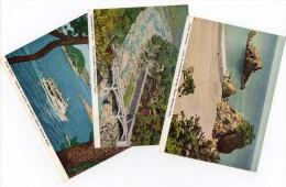 Ca1960 Japan Aichi Prefecture Vintage 3 Differnt Original Postcard Cpa Ak (W4_071) - Otros
