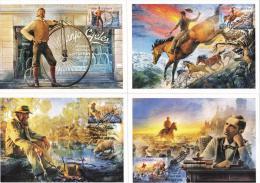Australia 2014 Bush Ballads Set Of 4 Maximum Cards - Cartes-Maximum (CM)