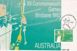 Australia 1982 XII Commonwealth Games, Archery, Maximum Card - Cartes-Maximum (CM)
