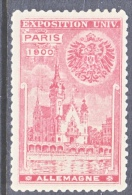 VIGNETTE   PARIS EXPO 1900 GERMANY  * - 1900 – Paris (Frankreich)