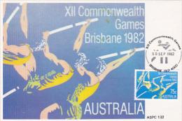 Australia 1982 XII Commonwealth Games, Pole Vault, Maximum Card - Cartes-Maximum (CM)