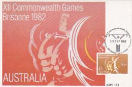 Australia 1982 XII Commonwealth Games, Weightlifting, Maximum Card - Cartes-Maximum (CM)