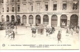 """REIMS: Cortège """" Reims Magnifique"""" Défilé Romain Devant La """" Société Générale """" - Reims"""