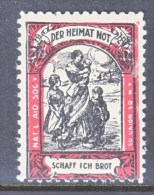 NATIONAL AID SOCIETY NY  **    DER HEIMAT NOT SCHAFF ICH BROT - United States