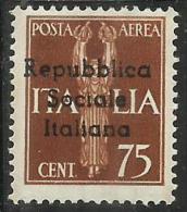 EMISSIONI LOCALI TERAMO 1944 POSTA AEREA AIR MAIL CENT. 75  MNH - Emissions Locales/autonomes