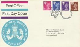 Great Britain 1971 Regional Decimal Definitives Scotland Addressed FDC - FDC
