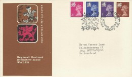 Great Britain 1971 Regional Definitives Issue Wales Addressed FDC - FDC