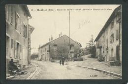 39. MORBIER( JURA ). VILLAGE. ANIMEE..HÔTEL..CHEMIN DE LA GARE...C1471 - Autres Communes