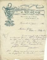 PHARMACIE COURRIER J. MICOLOD PHARMACIEN 1ERE CLASSE A HAUTEVILLE AIN  1912 ?? - Autres