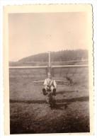 Altes Foto Mit Flugzeug , Fluggerät , 30er Jahre , Segelflugzeug , Flieger !!! - Fliegerei
