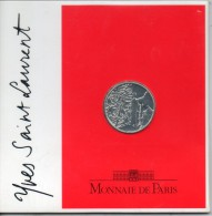 France. 5 Francs Yves Saint Laurent. BU Dans Son Emballage. Tirage 100 000 Ex. 12g. 29mm. Ag 900°/oo - J. 5 Franchi