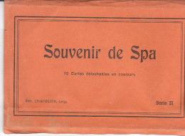 10 Cartes .- SOUVENIR DE SPA .- Edit. CHAPELIER Liège - Cartes Postales