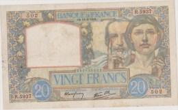 20 Fr Science Et Travail 18/09/1941 - 20 F 1939-1942 ''Science Et Travail''