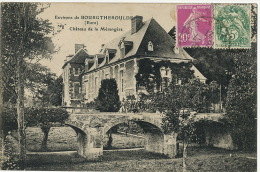 Env. De Bourgtheroulde Chateau De La Mesangere Edit Brionne Timbre Mixte Semeuse Type Blanc - Andere Gemeenten