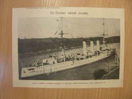 SMS Emden - Kleiner Kreuzer - Deutschen Kaiserlichen Marine  WWI-grande Guerre 1914-18 - Print   W138 - Autres