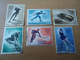 San Marino: 6 Werte Olympische Winterspiele 1956 - Gebraucht