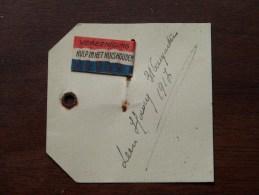 Vereeniging HULP IN HET HUISHOUDEN Speld 1917 V/ Leen .......... ........... Identify ? ( Zie Foto´s Voor Details) ! - Militaria