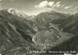 AOSTE ITALIE LA THUILE PANORAMA VISTO DA LES SUCHES EDIT. FUSERO IDA ECRITE CIRCULEE 1953 - Italy