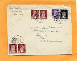 Turkey Old Cover Mailed To USA - Lettres & Documents