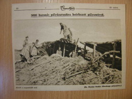 Austro-Hungarian Army - Soldiers Constructing  A Shelter -  Grande Guerre  - WWI-1914-18 -print   W153