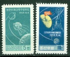 Korea 1960 DPR Soviet Space Flights MNH** - Lot. 2476 - Korea, North
