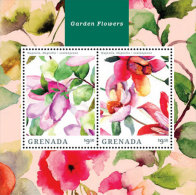 Grenada-2014-Flora-Flower S-Garden Flower - Grenada (1974-...)