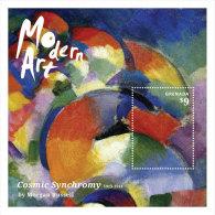 Grenada-2014-Art-Painting -Modern Art-Cosmic Synchrony By Morgan - Grenada (1974-...)