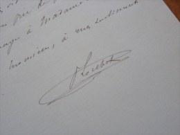 Paul LOUBET [1874-1948], Fils Du Président De La République Emile LOUBET. - AUTOGRAPHE - Autografi