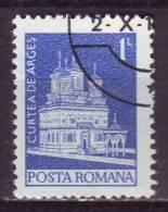 Romania, 1973/74 - 1L  Curtea-de-Arges Monastery - Usato° Nr.2458 - 1948-.... Repubbliche