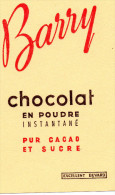 -  BUVARD Pub Chocolat BARRY - 935 - Cocoa & Chocolat
