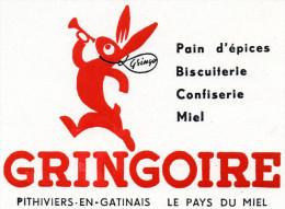 -  BUVARD Pub Pain D'épice GRINGOIRE à PITHIVIERS-EN-GATINAIS - 936 - Caramelle & Dolci