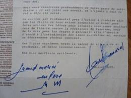 Marcel PAUL (1900-1982) - Résistant - Député Haute Vienne - MINISTRE - Autographe - Autographes