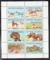 Bahrain MNH Scott #256 Minisheet Of 8 Different 80f Dogs - Bahreïn (1965-...)
