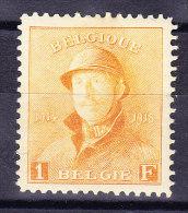 Belgien - 1919 -  Mi# 155 * - 1 Fr. Orange - Belgium