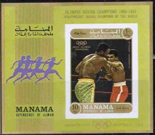 2696 Sport Olympic Boxing 1971 Manama S/s MNH Imperf Imp ** 10ME - Summer 1972: Munich