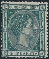 ESPAÑA 1875 - Edifil #170 - MLH * - Usados
