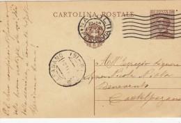 1931 - ANNULLO FRAZIONALE CASTELPAGANO IN ARRIVO - C.P. MICHETTI CENT. 30 - S3213 - 1944-46 Lieutenance & Humbert II