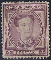 ESPAÑA 1876 - Edifil # 181Sin Goma (*) - Nuevos