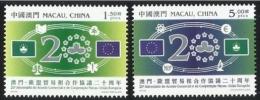2013 MACAO/MACAU EURO COOP 20 YEARS 2V - 1999-... Chinese Admnistrative Region
