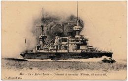Le SAINT-LOUIS - Cuirassè à Tourelles (Vitesse, 18 Noeuds 05), Karte Nicht Gelaufen Um 1915 - Krieg
