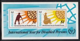 Bahamas MNH Scott #485a Souvenir Sheet Of 2 International Year Of The Disabled - Bahamas (1973-...)