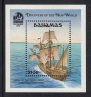 Bahamas MNH Scott #729 Souvenir Sheet $1.50 Pinta's Crew Sights Land - Discovery Of America - Bahamas (1973-...)