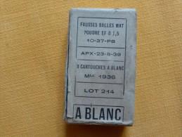 BOITE DE CARTOUCHES A BLANC - Armes Neutralisées