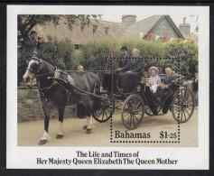 Bahamas MNH Scott #584 Souvenir Sheet $1.25 Queen Mother In A Pony Trap - Queen Mother's 85th Birthday - Bahamas (1973-...)