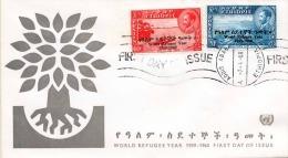 ETHIOPIE 1960 - 20 +60c Marken Mit Überdruck Auf Brief Mit FDC Stempel 1960 - Äthiopien