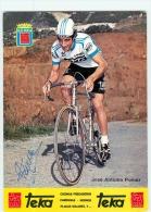 José Antonio POMAR, Autographe Manuscrit, Dédicace. 2 Scans. Equipe Teka 1979 - Wielrennen