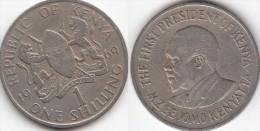 KENYA 1 Shilling 1969 KM#14 - Used - Kenya