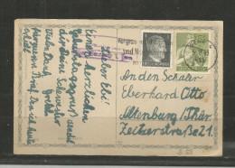 TOP!! DEUTSCHES REICH * GEBURTSTAGSKARTE VON GERA NACH ALTENBURG * 1943 **!! - Allemagne